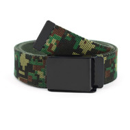 12pc Size Assorted Men's Flip-To Buckle Military Camo Canvas Belt MILB3306