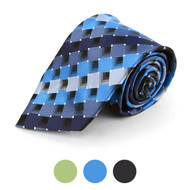 Plaid Microfiber Poly Woven Checked Tie - MPW5729