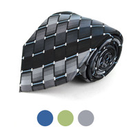 Plaid Microfiber Poly Woven Checked Tie - MPW5730
