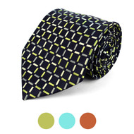 Checked Microfiber Poly Woven Tie - MPW5738