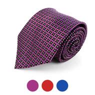 Geometric Microfiber Poly Woven Tie - MPW5739
