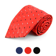 Geometric Microfiber Poly Woven Tie - MPW5740