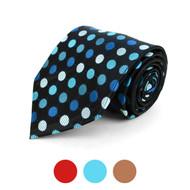 Polka Dot Microfiber Poly Woven Tie - MPW5741