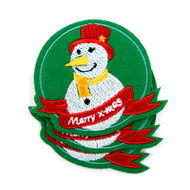 Snowman Embroidered Iron-On Christmas Winter Holiday Patch - Snowman   Item #: Snowman
