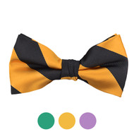 3pc Prepack Men's Poly Woven Striped Banded Bow Tie FBB5732