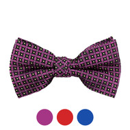 3pc Prepack Men's Poly Woven Geometric Banded Bow Tie FBB5739