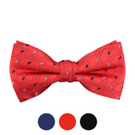 3pc Prepack Men's Poly Woven Geometric Banded Bow Tie FBB5740