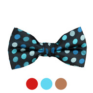 3pc Prepack Men's Poly Woven Polka Dot Banded Bow Tie FBB5741