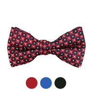 3pc Prepack Men's Poly Woven Geometric Banded Bow Tie FBB5742