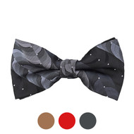 3pc Prepack Men's Poly Woven Abstract Banded Bow Tie FBB5743