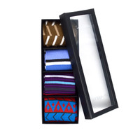 Fancy Multi Colored Socks Gift Box (4 Pairs in Box)  SFGB24