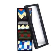 Fancy Multi Colored Socks Gift Box (4 Pairs in Box)  SFGB25