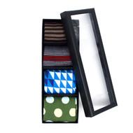 Fancy Multi Colored Socks Gift Box (4 Pairs in Box)  SFGB26