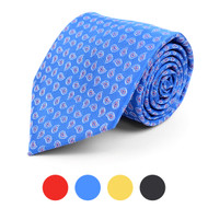 Paisley Leaf Microfiber Poly Woven Tie - MPW5744