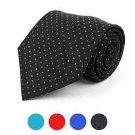 Pin-Dot Microfiber Poly Woven Tie - MPW5745