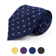 Square Dotted Microfiber Poly Woven Tie - MPW5746
