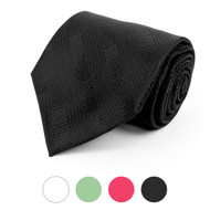 Distressed Microfiber Poly Woven Tie - MPW5749