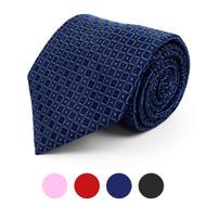 Boxed Pin-Dots Microfiber Poly Woven Tie - MPW5750