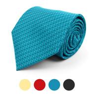 Pin-Dot Microfiber Poly Woven Tie - MPW5751