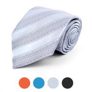 Decorative Striped Microfiber Poly Woven Tie - MPW5753