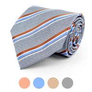 Striped Microfiber Poly Woven Tie - MPW5760