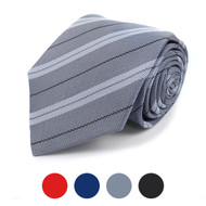 Striped Microfiber Poly Woven Tie - MPW5769