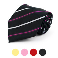 Striped Microfiber Poly Woven Tie - MPW5770