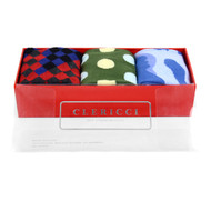 Fancy Multi Colored Socks Gift Red Box (3 Pairs in Box)  SGBL12