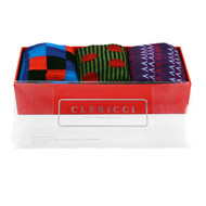 Fancy Multi Colored Socks Gift Red Box (3 Pairs in Box)  SGBL13