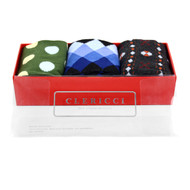Fancy Multi Colored Socks Gift Red Box (3 Pairs in Box)  SGBL15