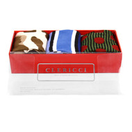 Fancy Multi Colored Socks Gift Red Box (3 Pairs in Box)  SGBL16