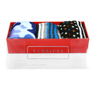 Fancy Multi Colored Socks Gift Red Box (3 Pairs in Box)  SGBL18