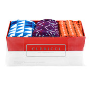 Fancy Multi Colored Socks Gift Red Box (3 Pairs in Box)  SGBL19