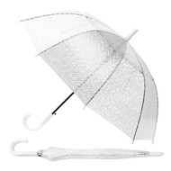 6pc Polka Dots See-Thru Premium Clear Umbrella  UM5002