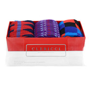 Fancy Multi Colored Socks Gift Red Box (3 paris in Box) SGBL23