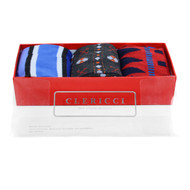 Fancy Multi Colored Socks Gift Red Box (3 paris in Box) SGBL24