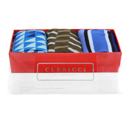 Fancy Multi Colored Socks Gift Red Box (3 paris in Box) SGBL25