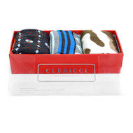 Fancy Multi Colored Socks Gift Red Box (3 paris in Box) SGBL26