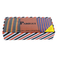 Fancy Multi Colored Socks Striped Gift Box (3 Pairs in Box) MFS1015
