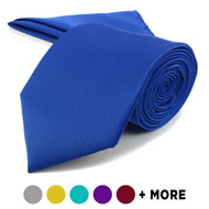 "[Promotion]3.25"" Poly Solid Satin Tie & Matching Hanky Set PSPTH1301"
