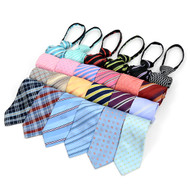 36pc Random Assorted Men's Micro Woven Zipper Ties MPWZ36ASST