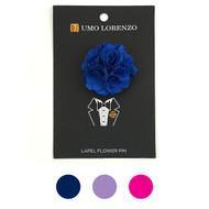 Solid Mini Bouquet Clutch Back Flower Lapel Pins F1001