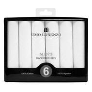 Boxed Men's Cotton Plain Handkerchiefs 6pcs Set HB006
