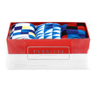 Fancy Multi Colored Socks Gift Red Box (3 Pairs in Box) SGBL27