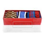Fancy Multi Colored Socks Gift Red Box (3 Pairs in Box) SGBL28
