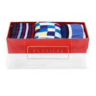 Fancy Multi Colored Socks Gift Red Box (3 Pairs in Box) SGBL31