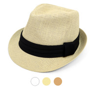 Spring/Summer Classic Style Fashion Fedora with Black Band FSS17110
