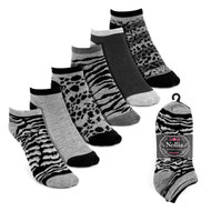 6pairs Women's Gray & Black Low Cut Socks LN6S16211