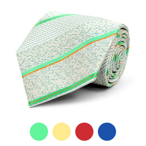 Striped Microfiber Poly Woven Tie - MPW5815