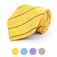 Striped Microfiber Poly Woven Tie - MPW5818